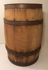 VINTAGE WOODEN BARREL NAIL KEG BROOKS BARREL CO. MD