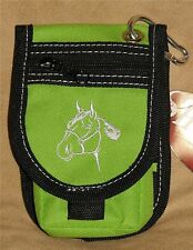 Western Saddle Horse Head Design Cordura Cell Phone Holder - LIME