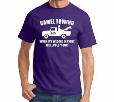 Camel Towing Funny T Shirt Adult Humor Rude Gift Tee Shirt Tow Truck Unisex Tee