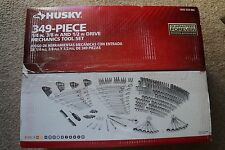 NEW Husky 349-Piece Mechanics Tool Set 1/4 in., 3/8 in. and 1/2 in. Drive