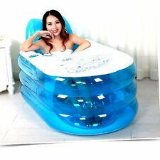 Blue Outdoor Inflatable Adult Bath Bathtub Portable Foldable Indoor Bathroom Tub