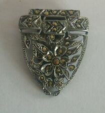 Art Deco marcasite dress clip