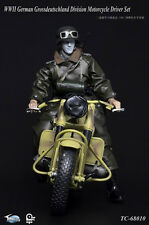 "Toys City 1/6 Scale 12"" WWII German Motorcycle Driver Grossdeutschland Set 68010"