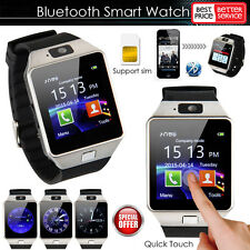 Bluetooth Smart Watch For iPhone iOS HTC Samsung Android Phone + Camera SIM Slot