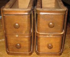 Pair 2 Set Antique Singer Treadle Sewing Machine 2 Drawers NICE