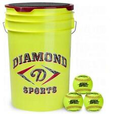Diamond Official Fast Pitch Softballs With Bucket 18 Ball Pack W/Bucket