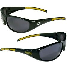 GREEN BAY PACKERS UV 400 WRAP SUNGLASSES TEAM LOGO NFL FOOTBALL