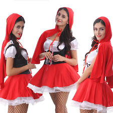Adult Girl Little Red Riding Hood Costume Cosplay HALLOWEEN Carnival Fancy Dress