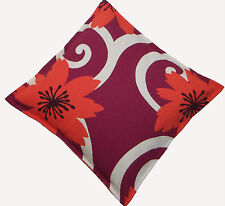 Retro Purple Orange Feature Scatter Cushion Covers x 2 - Campervan or Home Decor