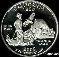 2005 S 90% Silver California State Quarter Deep Cameo Gem Proof No Reserve