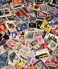 Lot# 33 Old Stamp Estate 1000+ Worldwide Stamp Collection