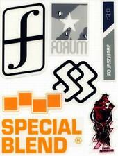 FORUM FOURSQUARE SPECIAL BLEND snowboard 7 sticker set ~NEW old stock~!!