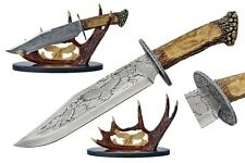 """NEW 15"""" Eagle Bowie Knife with Antler Display Father's Day Gift Hunter Collectio"""