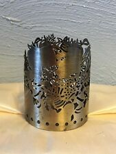 Colonial Candle of Cape Cod-metal fruit Pillar  Holder