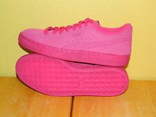 Youth Girls Puma Suede Iced Fluoro Shoes Size 7 Beetroot Purple (Pink)