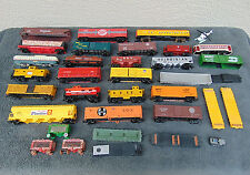Mixed Lot Vintage HO Scale Train Car Cars Parts 35 Total Pieces need TLC