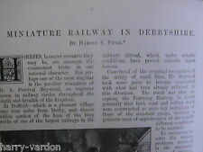 Miniature Baby Railway Duffield Derby Heywood Rare Old Victorian Article 1895