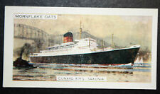 RMS SAXONIA    Cunard Liner      Vintage Illustrated Colour Card  VGC