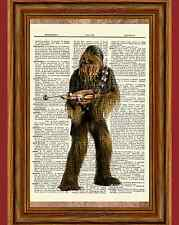 Chewbacca Star Wars Dictionary Art Print Book Picture Poster Collectible Gift