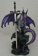 Nemesis Now  PURPLE DRAGON BLADE HOLDING A GLOBE LETTER OPENER Paper Knife