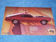 """1969 Ford Mustang Mach 1 Vintage 2pg Ad """"If You Haven't Got A Past Yet..."""""""