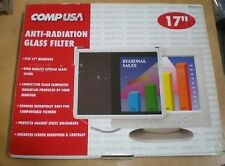 "Anti Glare Monitor Filter Radiation Static LCD CRT LED 17"" 16"" 15"" by COMPUSA"