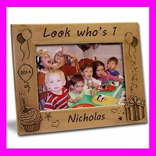 4x6 PERSONALIZED CUSTOM ENGRAVED FIRST BIRTHDAY PICTURE FRAME GREAT GIFT