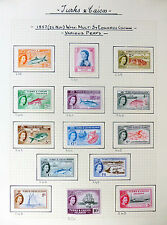 TURKS & CAICOS ISLANDS 1957 to 10/- Ship SG237/250 Mounted Mint FP6179