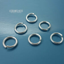 6PC Solid Sterling Silver 10mm 15 Gauge 1.5mm HD Open Jump Ring Connector #33104
