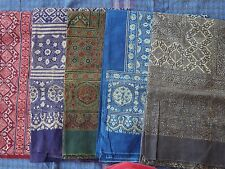 wholesale lot of Indian Block printed ajrakh cotton barmeri bed sheets
