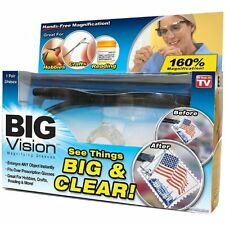 Big Vision Magnifying Glasses As Seen On TV 160% Magnification Eyewear Reading