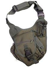 TACTICAL OLIVE GREEN   7 LITRE SHOULDER BAG Daysack Grab/Travel Bag FLIGHT BAG