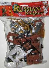 Plastic Medieval Russian Knights Plastic Figures Set No. 36 New In Bag!