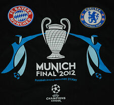 OFFICIAL CHAMPIONS LEAGUE 2012 FINAL FOOTBALL CHELSEA BAYERN MUNCHEN T SHIRT L