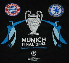 OFFICIAL CHAMPIONS LEAGUE 2012 FINAL FOOTBALL CHELSEA BAYERN MUNCHEN T SHIRT L
