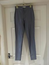 Size 8 Wet Look Trousers by Glamorous in Light Blue Metallic Shimmer Skinny Fit