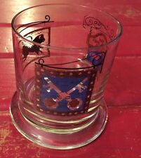 WHITE HORSE CELLAR DRINKING GLASS ON THE ROCKS whiskey pub BARWARE NICE!