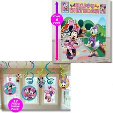 Minnie Mouse Scene Setter + Swirl Decorations Birthday Wall Banner party Supply