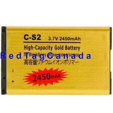 2450mAh Li-Ion Battery for Blackberry C-S2 CS2 8300 8700 9300 8330 Gold - Canada