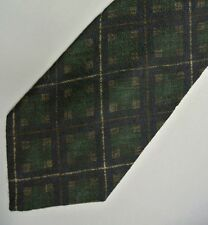 "Green Navy Argyle Plaid BRUNO GABRIELI Silk Tie, Made in ITALY. 3.7"" W 58"" Lg."