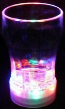 Bulk Lot 6 x Light Up Cola Glasses LED Drink Cup Glass Glow Partyware Xmas New