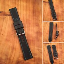 Blue Green Rare Horween Chromexcel Leather Premium Lined 20mm Watch Strap