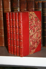1844-48 5v fine leather Charles Dickens - THE CHRISTMAS BOOKS Scrooge Free Ship