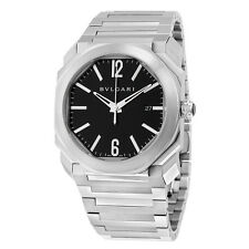 Bvlgari Octo Solotempo Automatic Black Dial Stainless Steel Mens Watch 102031