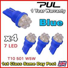 4 X 7 LED HID BLUE 501 T10 W5W SIDELIGHT / NUMBER PLATE / INTERIOR BULBS