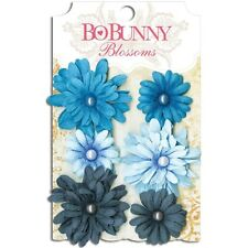"Bo Bunny Blossoms ""Denim Blue Daisy"" Gorgeous Color - 6 in each Package!!"