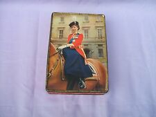 Old Edward Sharp Maidstone Queen Elizabeth II Side Saddle Confectionery Tin 1953