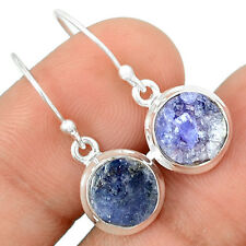 Tanzanite Rough 925 Sterling Silver Earrings Jewelry TZRE17