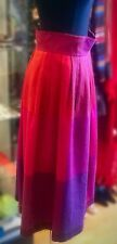 Vintage Diane von Furstenberg Multicoloured Wool Blend Pleated Midi Skirt UK M