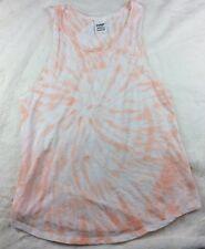 Victoria's Secret PINK Tie Dye Tank Top Sz XS White Orange
